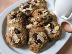 Flaxseed Raisin Cookies